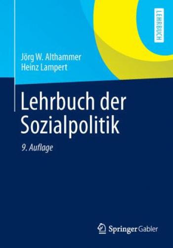 Lehrbuch der Sozialpolitik von Heinz Lampert; Jörg Althammer (Buch) NEU