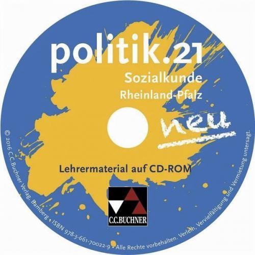 Lehrermaterial, CD-ROM / politik.21 neu, Sozialkunde Rheinland-Pfalz (Software)