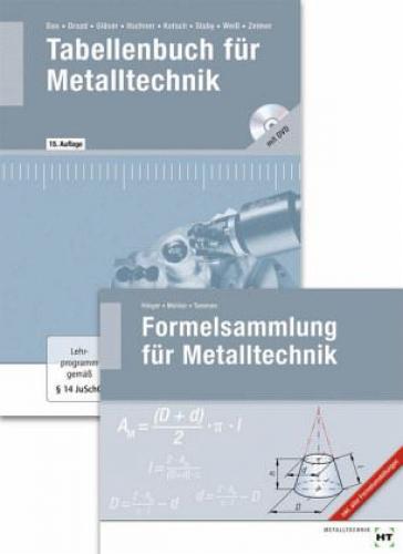 Tabellenbuch für Metalltechnik; Formelsammlung für Metalltechnik, 2 Bde. NEU